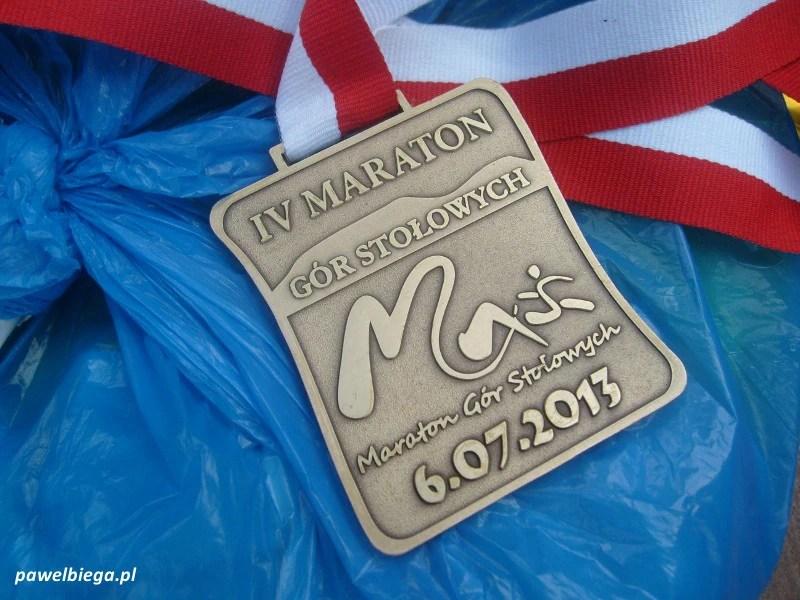 IV Maraton Gór Stołowych - medal