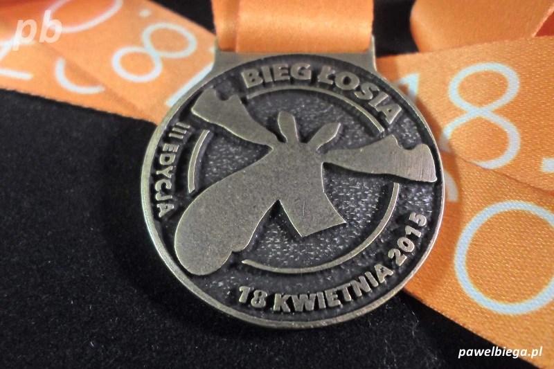 Bieg Łosia 2015 - medal