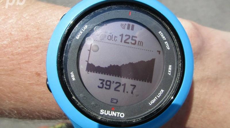 Suunto Ambit3 - profil wysokości