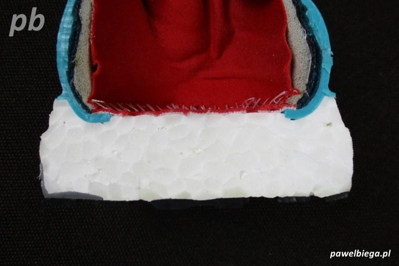 Adidas Ultra Boost - przekrój tył