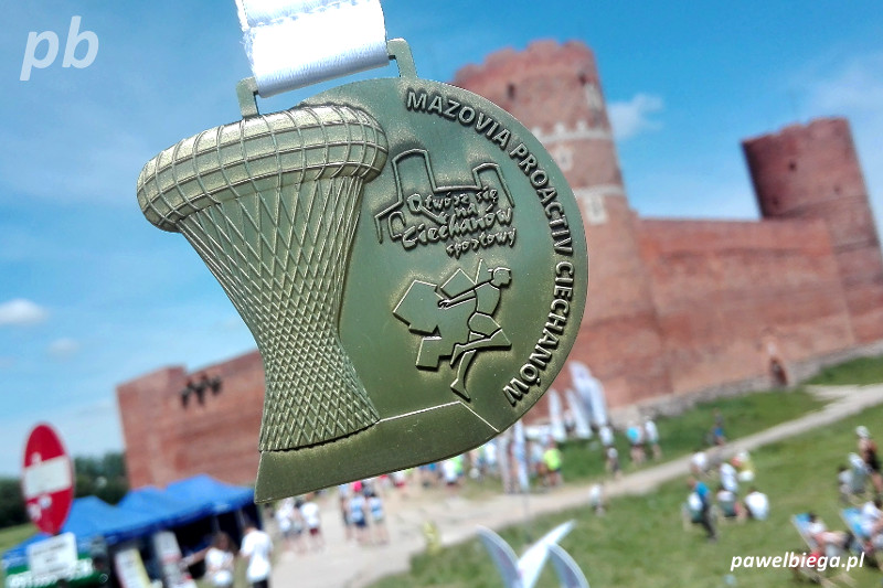 Półmaraton w Ciechanowie - medal