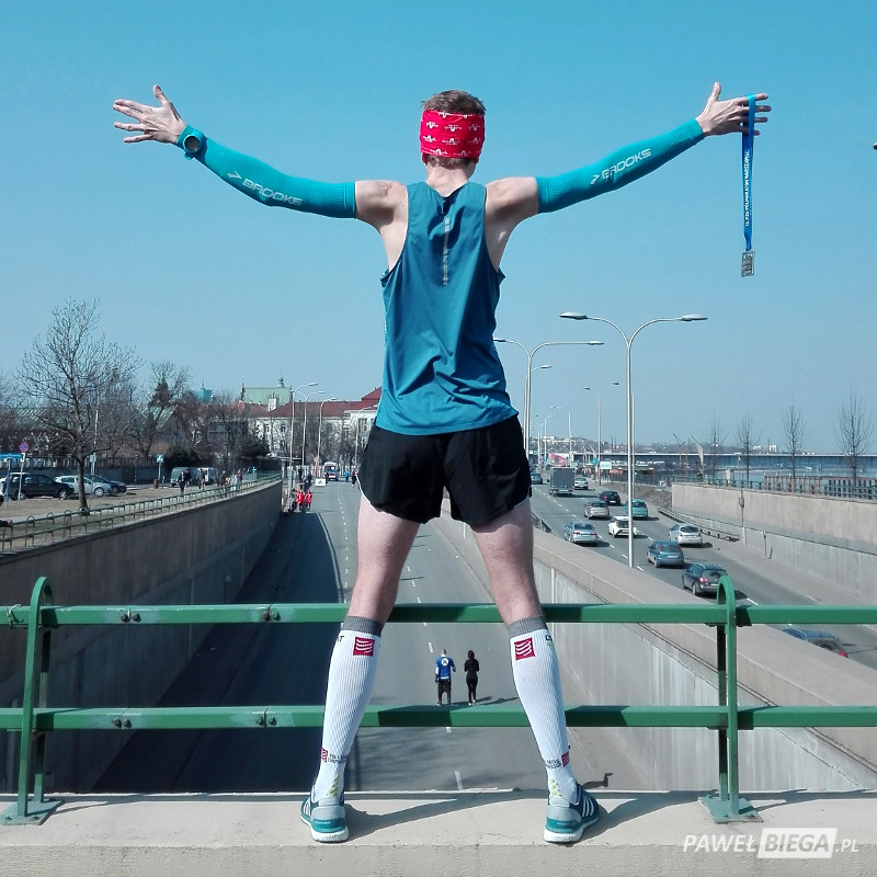 13 Półmaraton Warszawski - meta