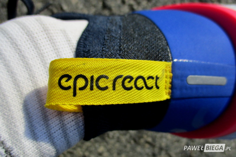 Nike Epic React - detal