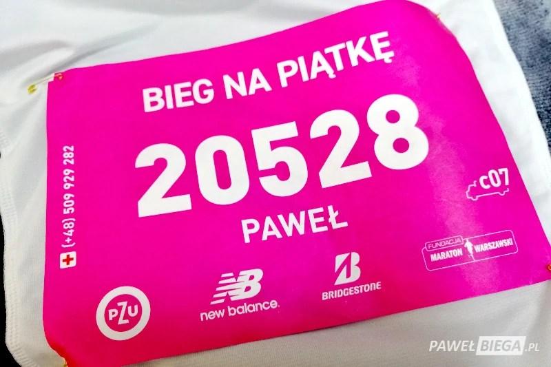 Bieg na Piątke 2019 - numer startowy