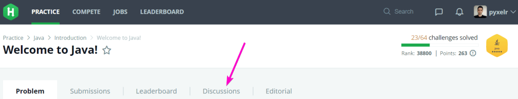 Discussions tab