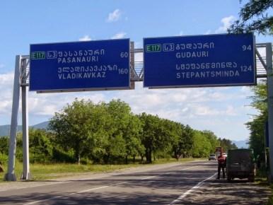 początek gruzińskiej drogi wojennej w okolicy mcchety