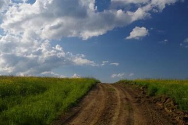 okolice dawnej wsi surowica w beskidzie niskim, droga prowadząca do nieba