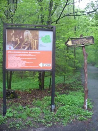 w drodze do sztolni czarnego pstrąga w tarnowskich górach
