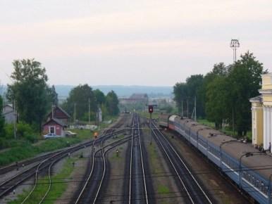 dworzec kolejowy w nowosokolnikach w rosji