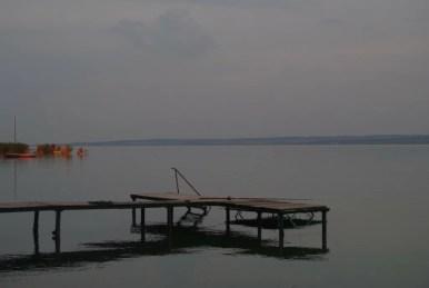 kładka na północnym wybrzeżu balatonu na węgrzech