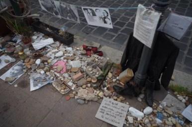 pamiątki po węgierskich żydach na placu wolności w budapeszcie