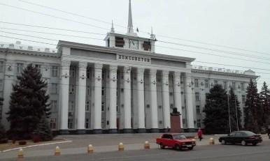 dom sowietów w tyraspolu, w separatystycznej republice naddniestrza