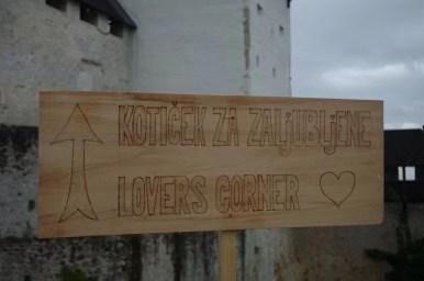 kącik zakochanych na starym zamku w celje w słowenii