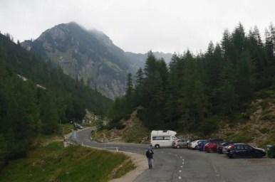 przełęcz vrsic w alpach julijskich w słowenii