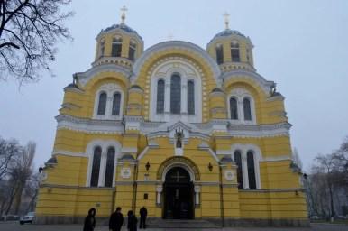 sobór świętego włodzimierza w kijowie na ukrainie
