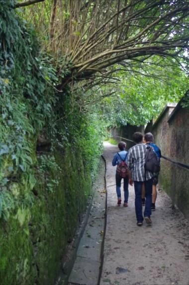 w drodze na zamek w ljubljanie w słowenii