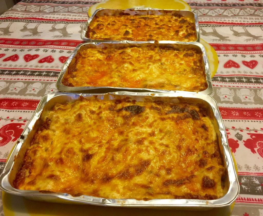 Lasagne result, a little burnt but super lovely!