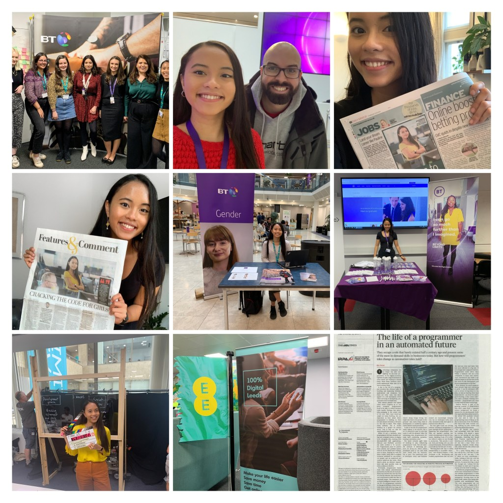 My first year in the professional world: being on the newspaper, filming to promote the grad scheme, Gender Equality Network work, organising IWD, Hack Day and working with the local Leeds Community.