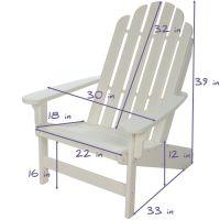 Lifetime Essential Adirondack Chair - White  NHH  Durawood