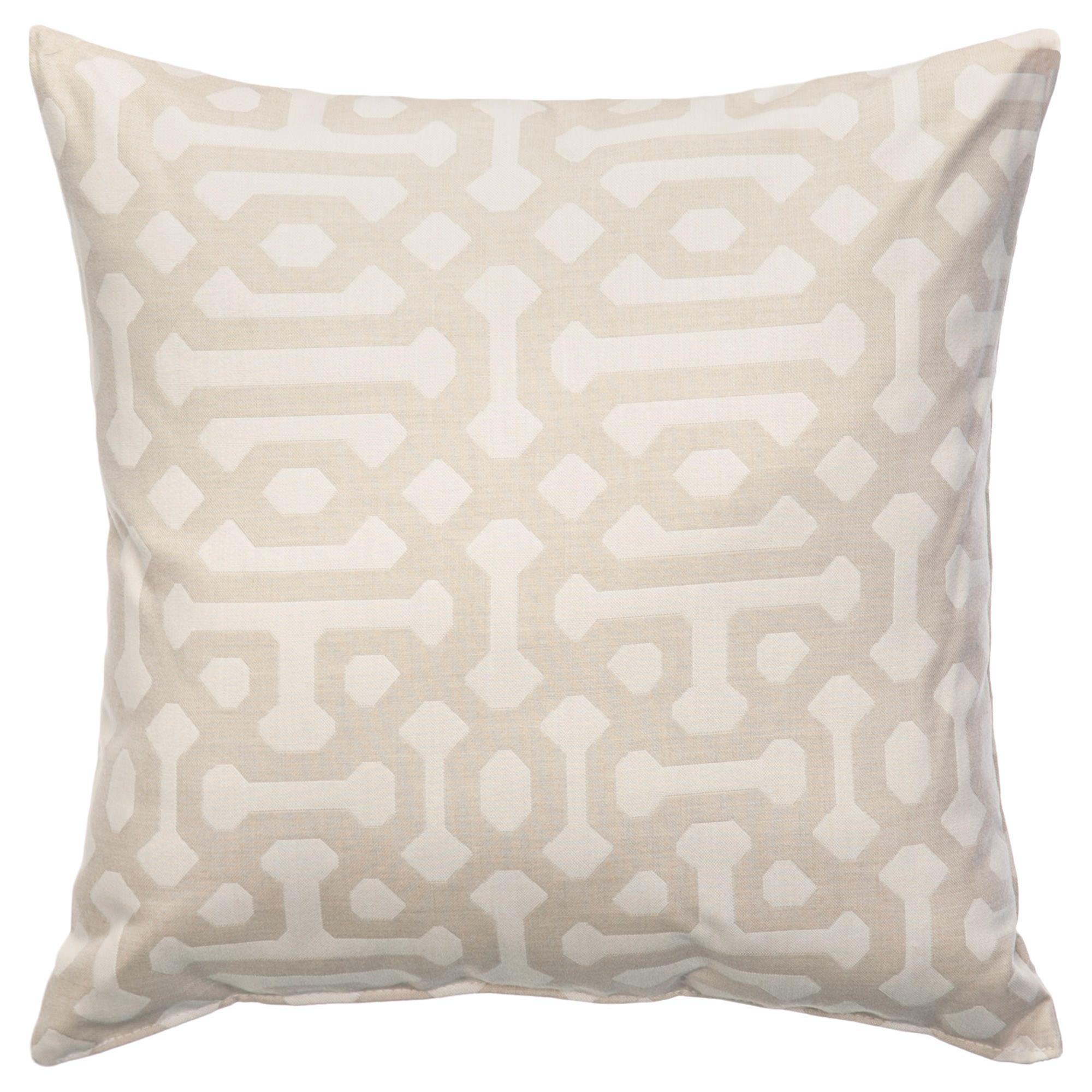 Fretwork Flax Sunbrella Outdoor Throw Pillows on Sale