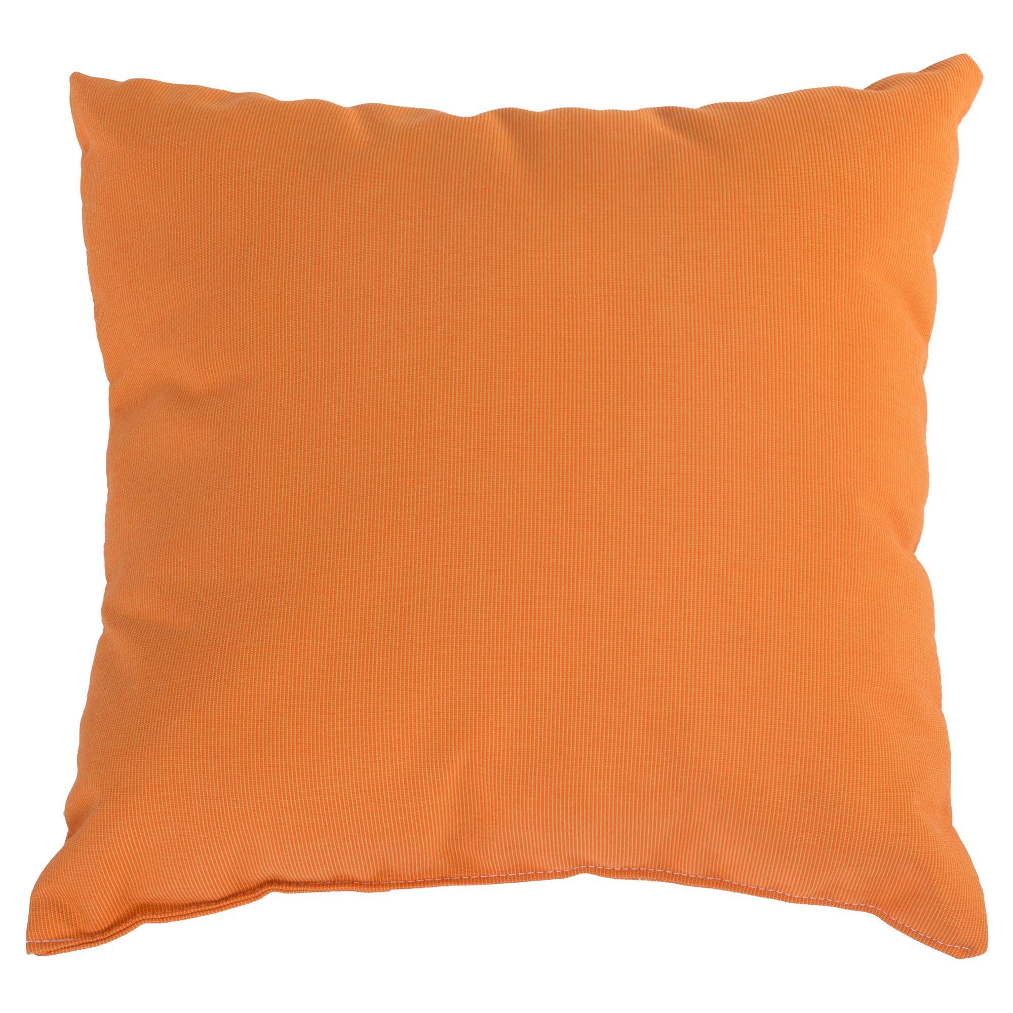 Tangerine Sunbrella Outdoor Throw Pillow
