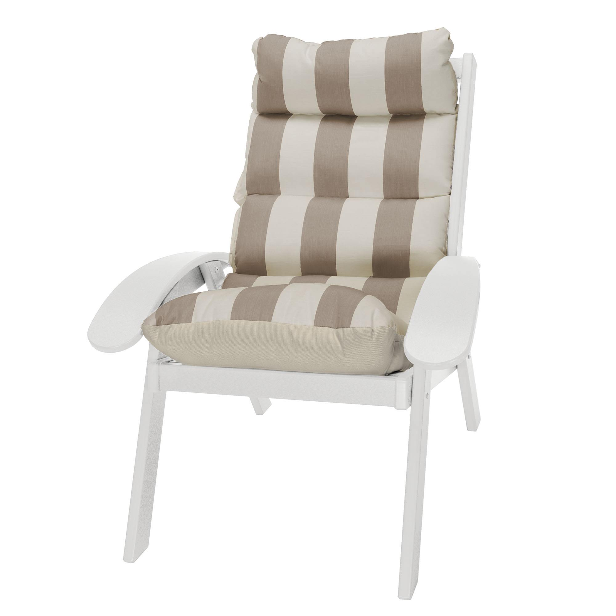 white cushion chair harley davidson table and chairs coastal on sale shop patio furniture