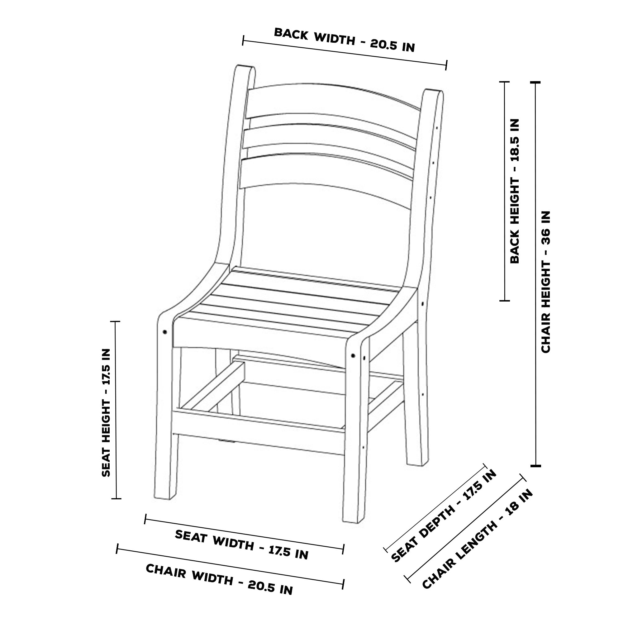 Dining Chair Dimensions Welcome To Pawleys Island Hammocks