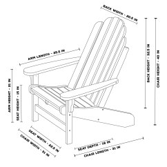 Wheel Chair Dimensions Flip Convertible Sleeper Durawood Essentials Adirondack Pawleys Island Hammocks