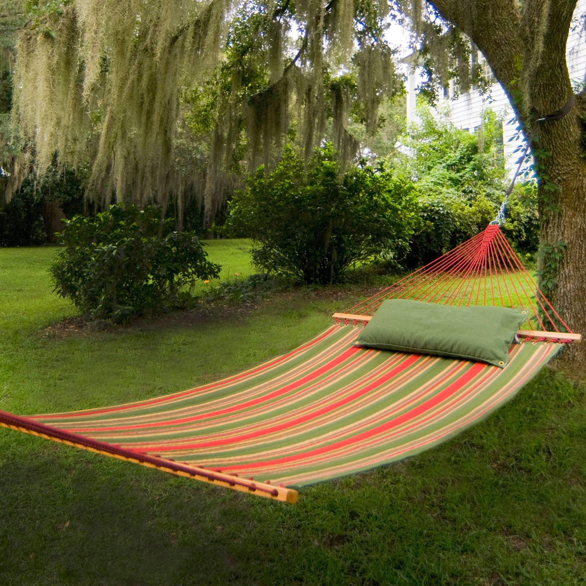 Trellis Garden Large Quilted Fabric Hammock