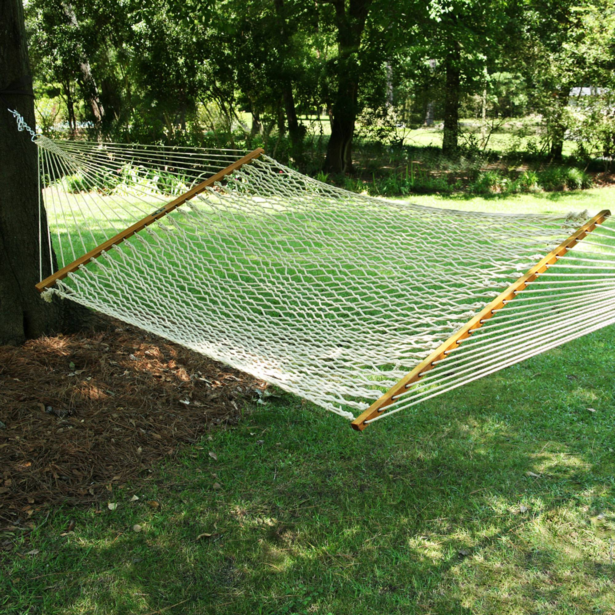 Large Oatmeal Duracord Rope Hammock