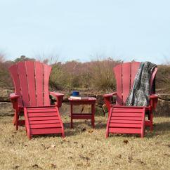 Red Adirondack Chairs White Chair Rentals Durawood Sunrise Complete Combo Pawleys Island Hammocks
