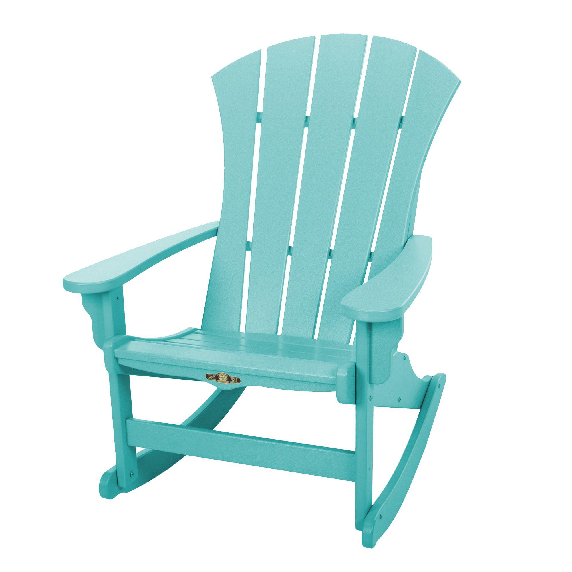 aqua adirondack chairs rental for sale shop durawood sunrise rockers on