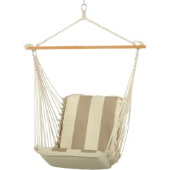 Single Person Hammock Chair Master Bedroom Cushioned Swing Regency Sand Srd02 Hatteras