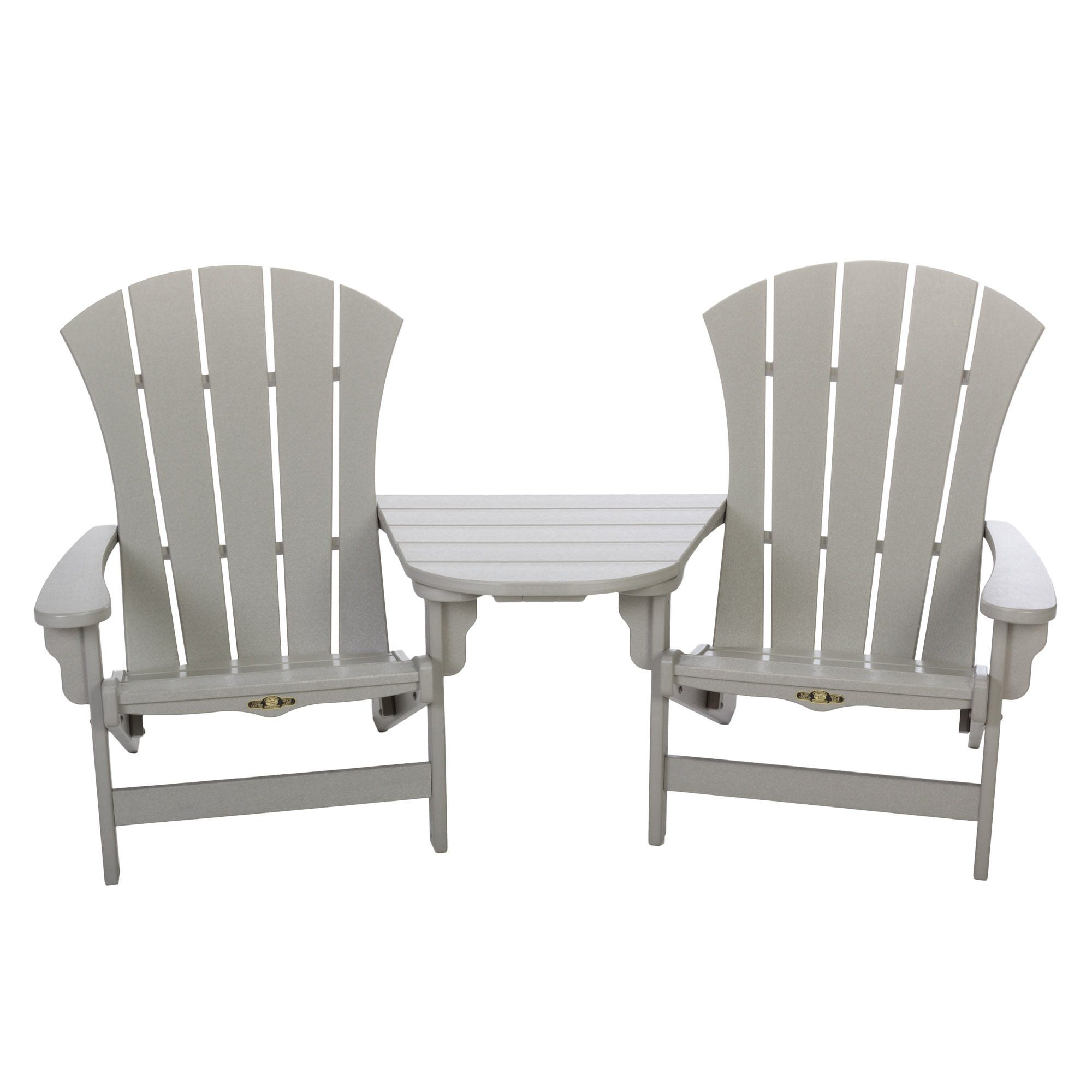 tete a chair outdoor slipcover for and half durawood sunrise adirondack combo pawleys