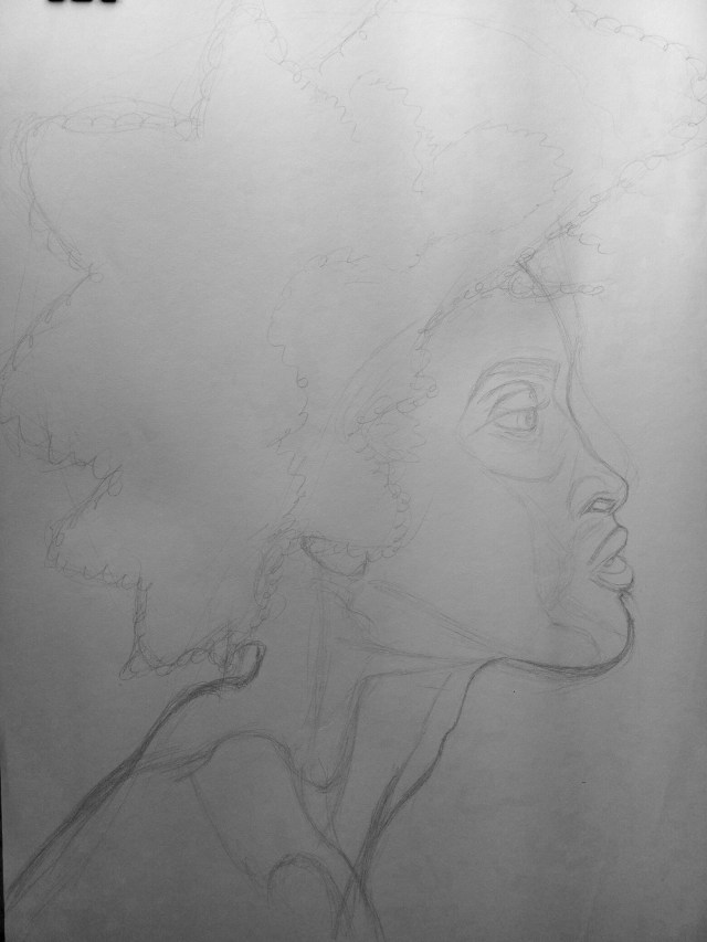 beginning of a drawing. Outline