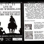 Flyer vom Konzert im Stereo Wonderland