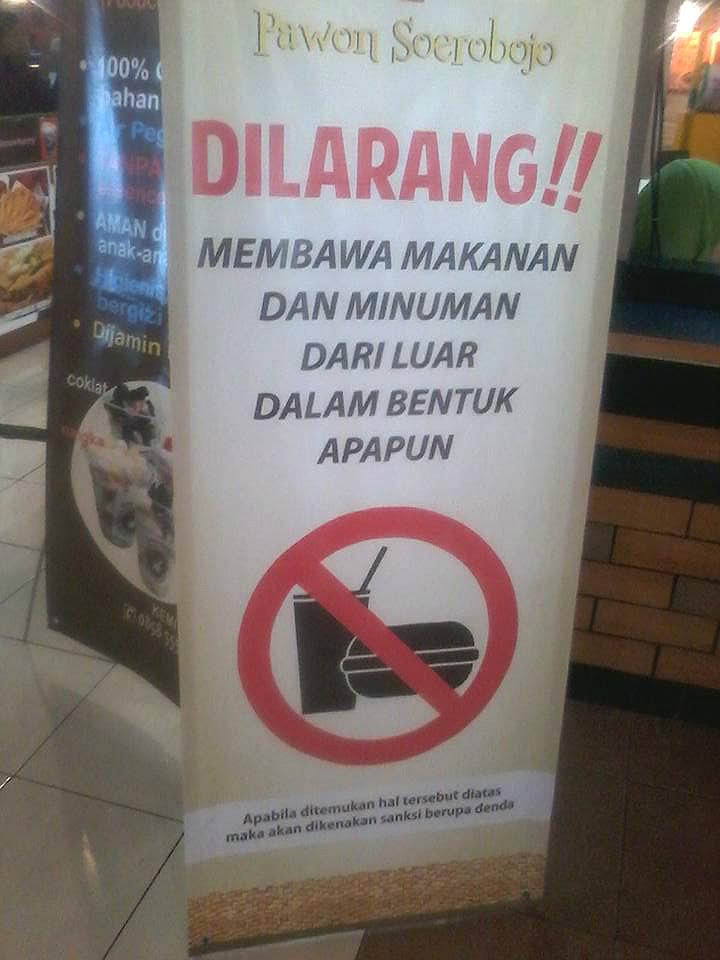 Dilarang Membawa Makanan : dilarang, membawa, makanan, Dilarang, Membawa, Makanan, Minuman
