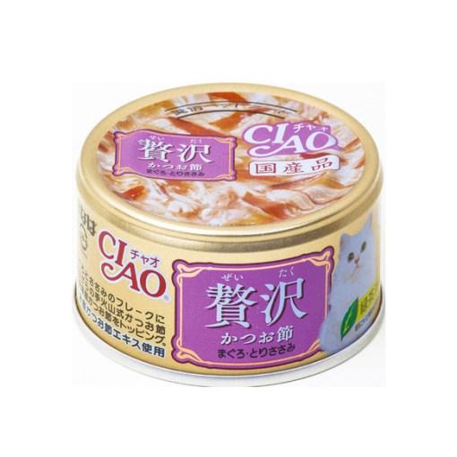 INABA - Cat(can) - CIAO 奢華-木魚片+吞拿魚+雞肉 A-145