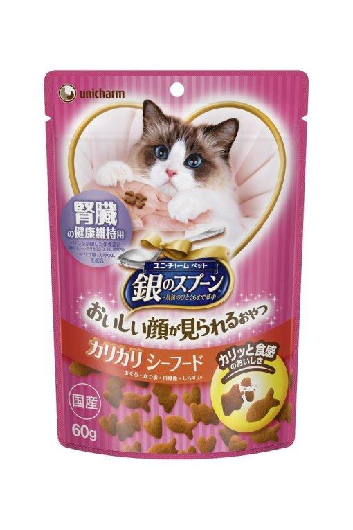 Unicharm 銀匙 腎臟健康 貓小食 60g