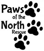 Paws of the North Rescue Logo