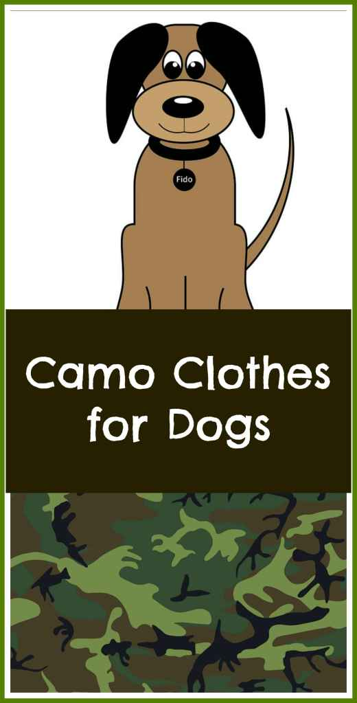 camo clothes for dogs