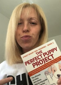 Me with Perfect Puppy Project book