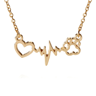 Heart beats for you necklace in gold