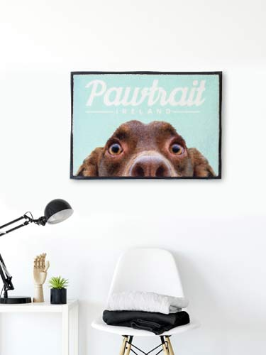 Underfoot Designs personalised pet mat sample