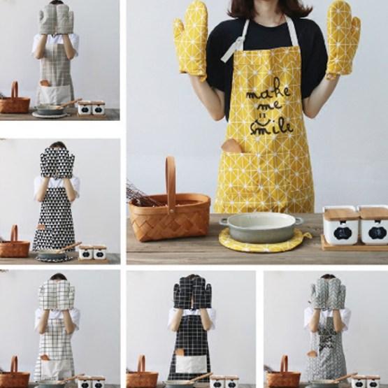 Apron 4Pc Kitchen Set