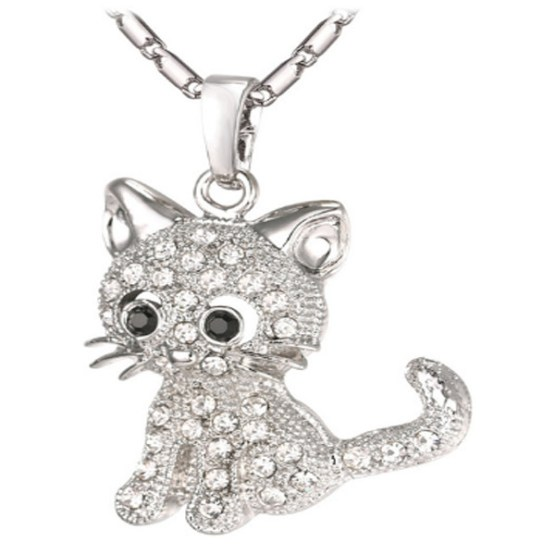 Cat Crystal Necklace 2