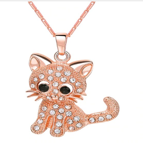 Cat Crystal Necklace 3