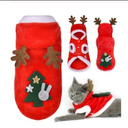 Christmas Cat Dog Santa Hoodie