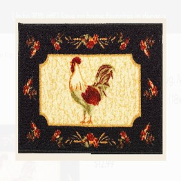 Rooster Rectangle Rug