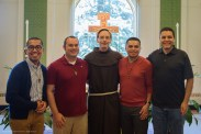 Novices of Holy Name Province with Fr. Larry Hayes, OFM